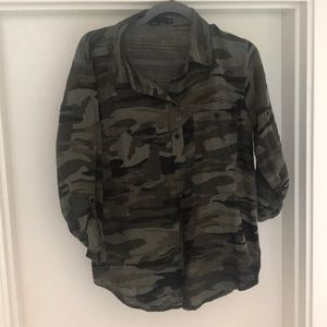 Button down camo shirt